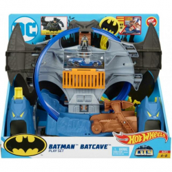 Hot Wheels - Batcaverna com Acessorios - DC Comics - Mattel