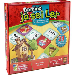 Jogo Educativo - Domino - Ja sei Ler - Grow