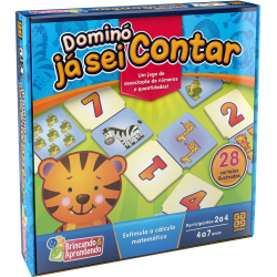 Jogo Educativo - Domino - Ja sei Contar - Grow