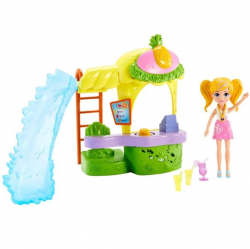 Polly Pocket - Boneca com Playset - Quiosque de Abacaxi - Mattel