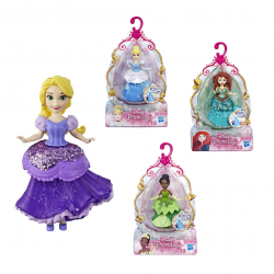 Mini boneca - Princesas - Royal Clips - sortidas - Disney-Hasbro