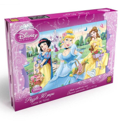 Puzzle - Princesas - 30 pecas - Disney - Grow