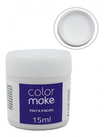 Tinta Liquida para Maquiagem Artistica - Branca - 15ml - Color Make