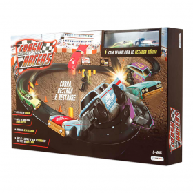 Pista Crash Racers - com veiculos - Multikids