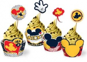 Mickey Classico - Cupcake Wrapper - embalagem com 08un - Disney Juniors - Regina